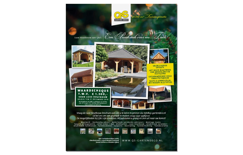 QS Garten | Advertentie ontwikkeling | Schriever design