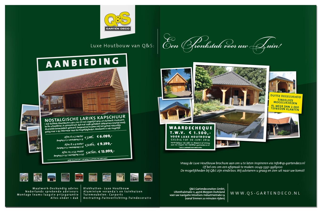 Advertentie ontwikkeling | QS Garten | Schriever design