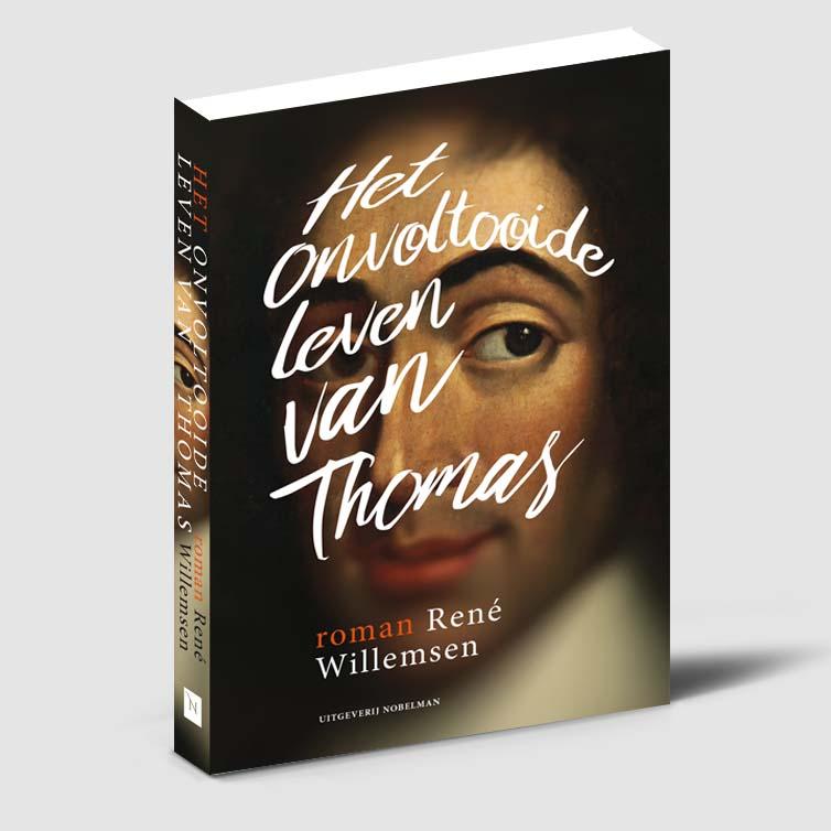 Boekomslag ontwerp voor Het onvoltooide leven van Thomas