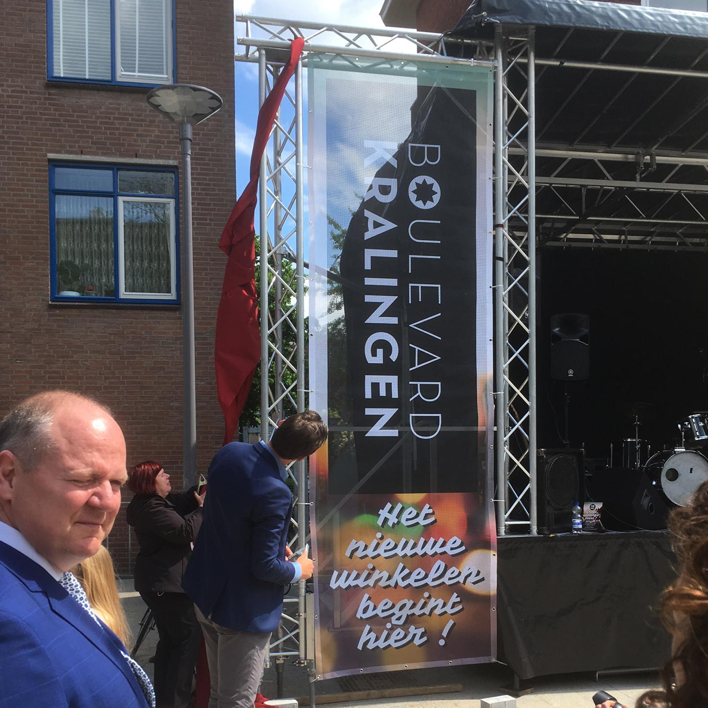Positioneren van Boulevard Kralingen | Gebiedslogo en promotiemateriaal