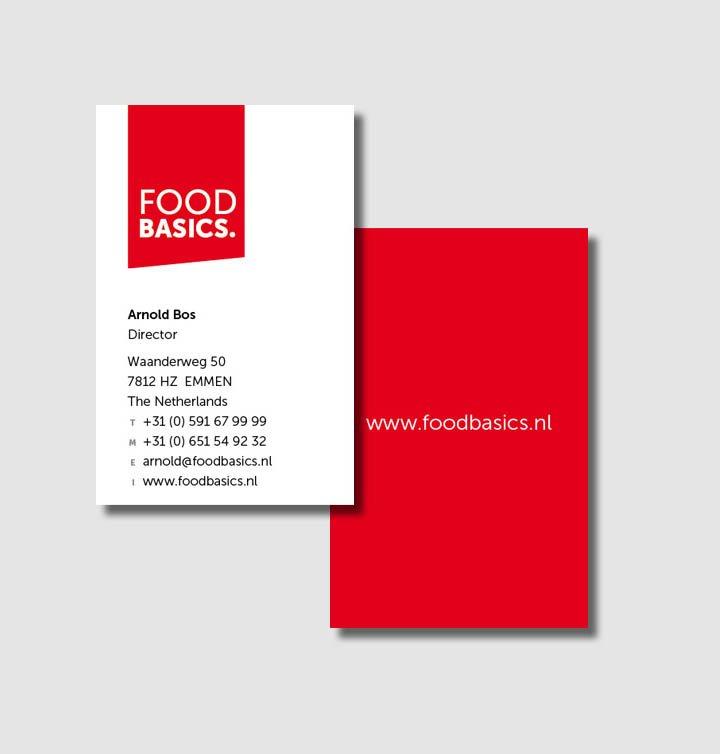 Huisstijl en drukwerk | Food Basics | Schrieverdesign