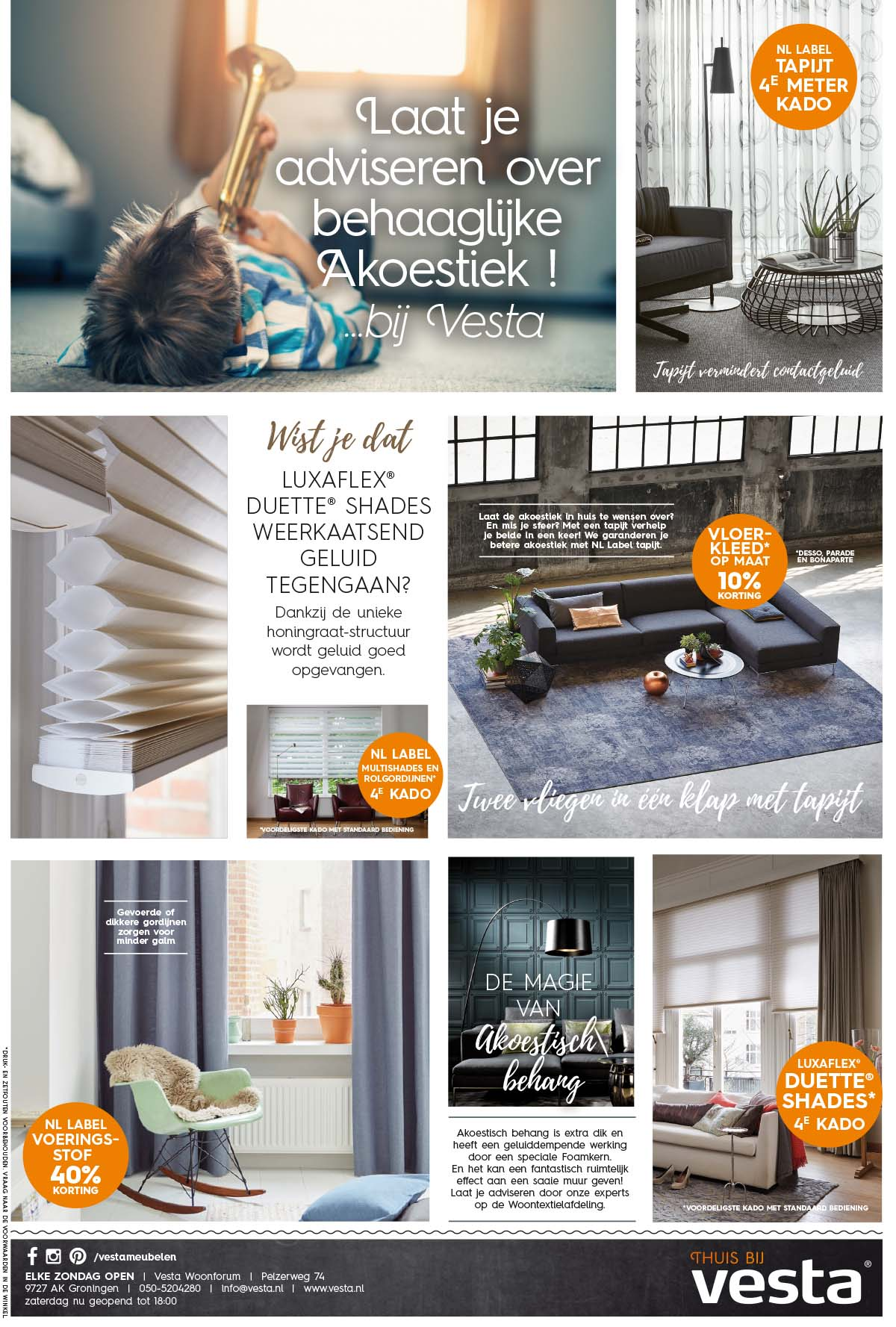 Advertenties en ontwerp voor Vesta Groningen | Schriever design en concept