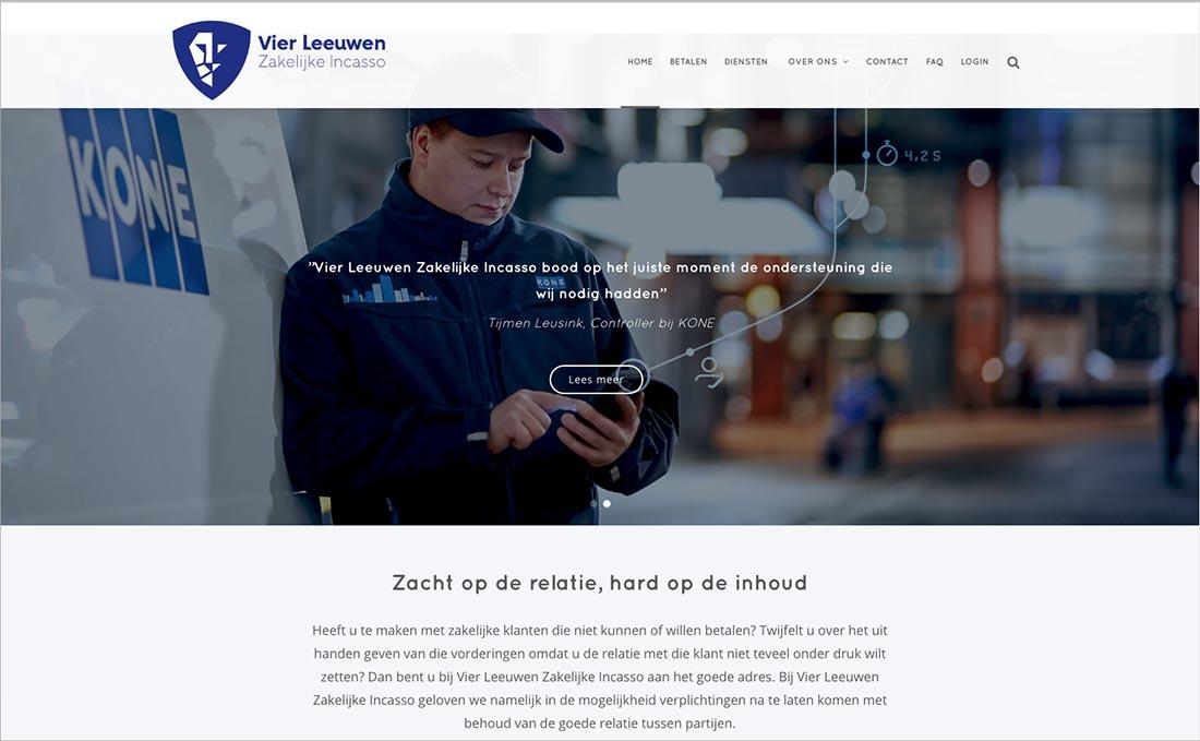 Nieuwe huisstijl en website | Vier Leeuwen zakelijke incasso