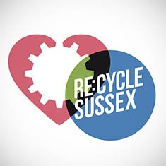 Re:cycle Sussex logo design and campaign