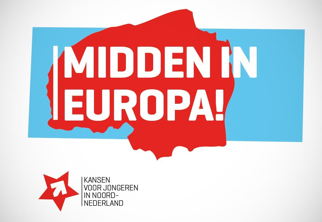 Midden in Europa. Jongerenwerk, reclamecampagne en design.