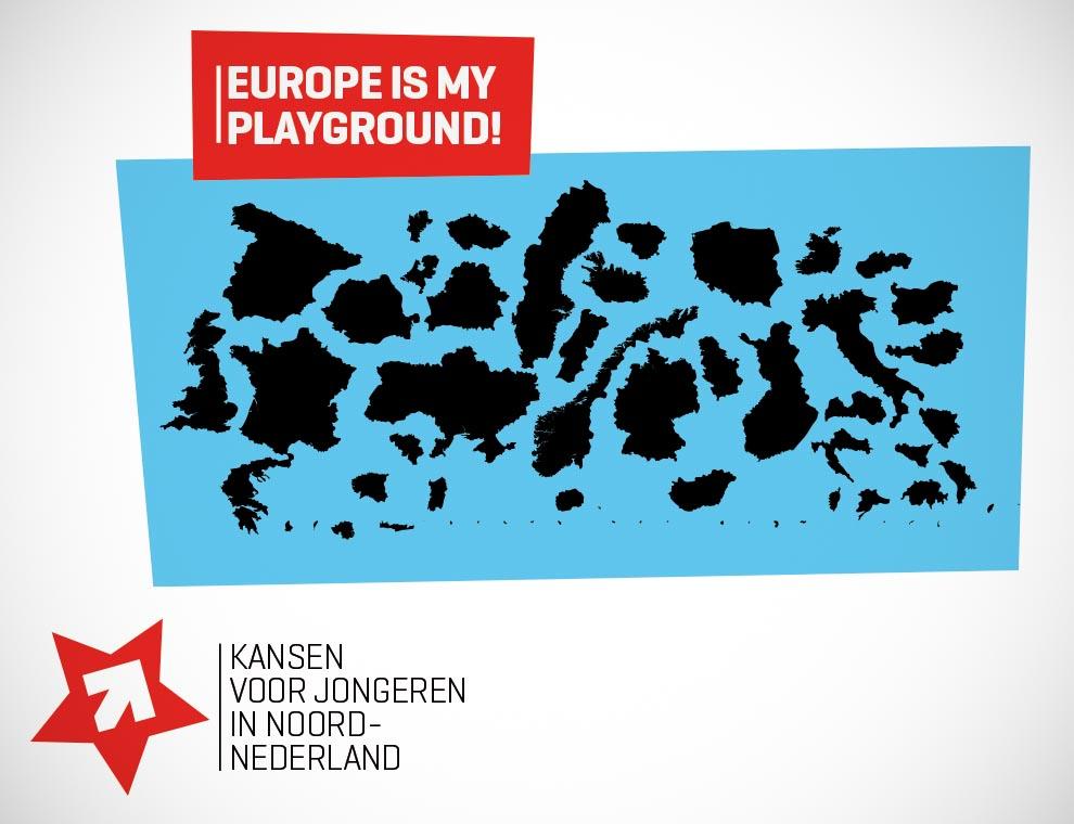Europe is my playground. Grafisch ontwerp en campagne.