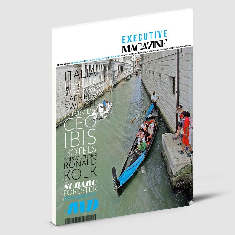 Glossy tijdschrift | Magazine ontwerp | Executive magazine