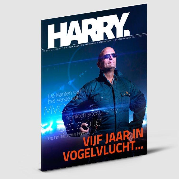 Tijdschrift Harry | Magazine ontwerp | Schriever design