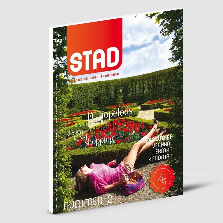 Stad glossy magazine | Schriever design | Magazine ontwerp