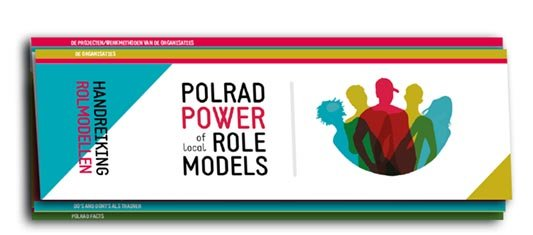 Polrad power role models. Ontwerp en productie flyer, drukwerk.