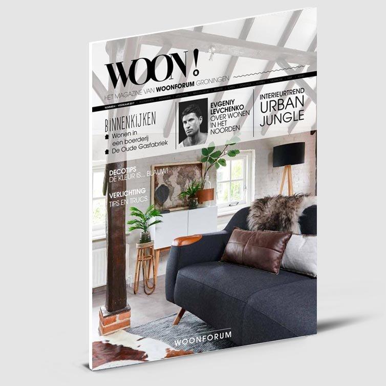 Tijdschrift Woon | Magazine ontwerp | Schriever design